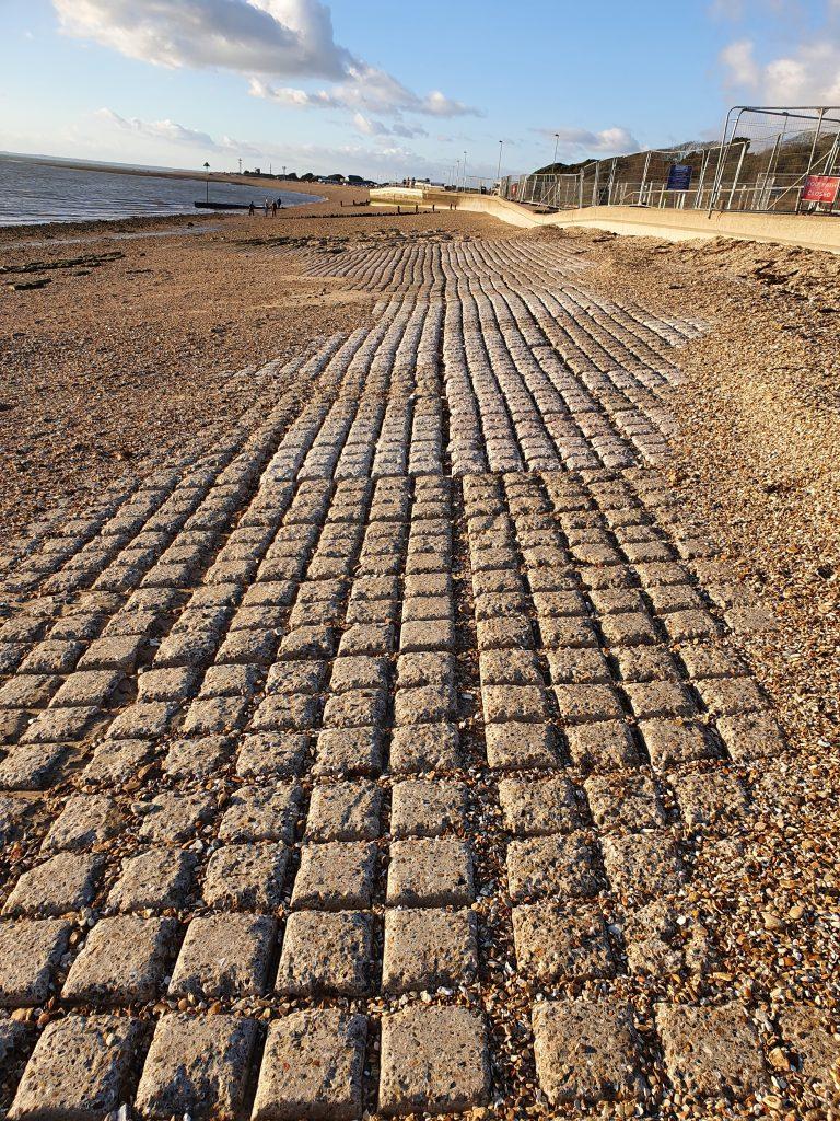 Block pavement at Stokes Bay