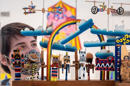 Mechanical toys at Gosport Gallery