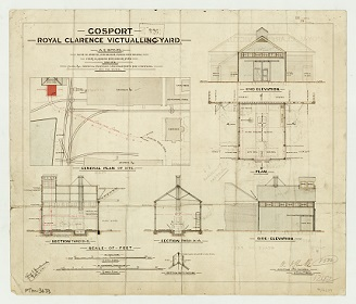 Old site drawing of ROYAL CLARENCE VICTUALLING YARD