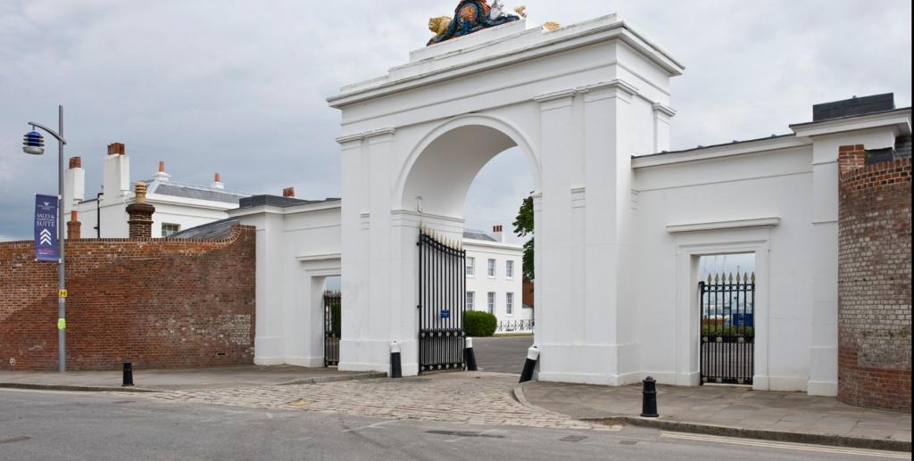 Ceremonial gate at Royal Clarence Yard